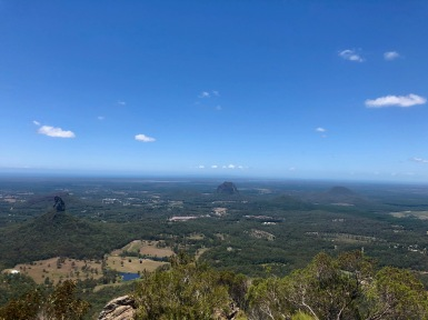Views from the tallest mountain on the Sunshine Coast